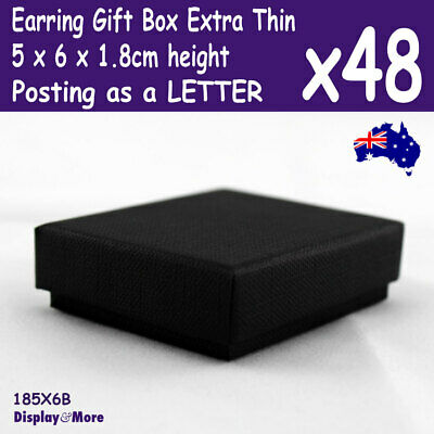Earring Box | BULK 48pcs | 5x6x1.8cm THIN | Posting as LETTERS | AUSSIE Seller