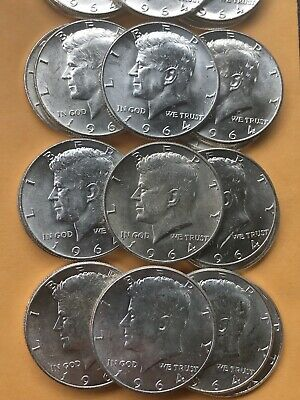 1964 90% Silver Kennedy Half Dollar Coin Lot. Choose How Many Coins You Want!!