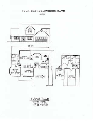 2099 square foot four bedroom house plan