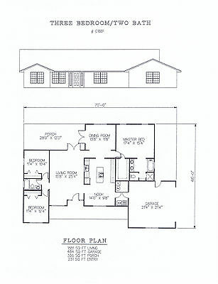 1881 square foot three bedroom house plan