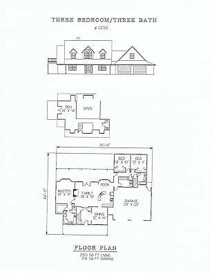 2120 square foot three bedroom house plan