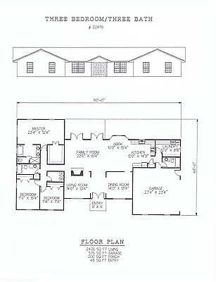 2476 square foot three bedroom house plan