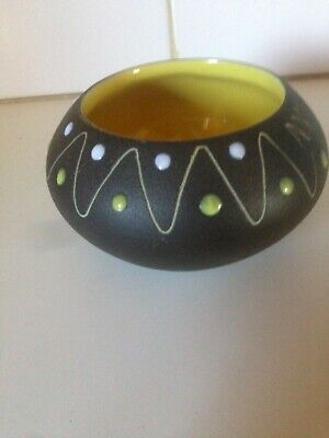 Vintage Gunda Australia Pottery Raised Dot Vase Portland Pot Modernist Retro