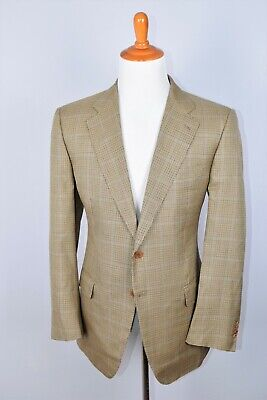 Cantarelli Houndstooth Multi Color Sport Coat Silk Wool Size 44L