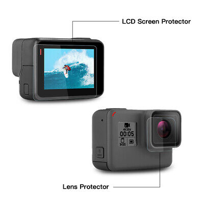 Tempered Glass Lens + LCD Screen Protector For GoPro Hero 7 6 5 Hero7 black