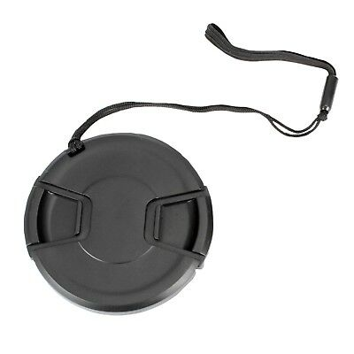 55mm Center Pinch Snap-On Lens Cap with Leash Canon Nikon Sony DSLR Camera