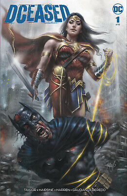 Dceased 1 Lucio Parrillo Variant Batman Wonder Woman Ltd To 1500 W/ Coa Nm