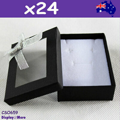 Jewellery Box CHAIN set Gift Case | 24pcs 6.5x9cm | Clear WINDOW | AUSSIE Seller