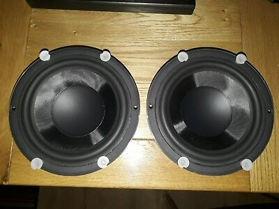 """2X PEERLESS TYMPHANY HDS 6 5""""/180mm long-throw g-weave™ bass mid range  speakers"""