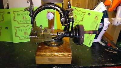 Antique Willcox & Gibbs unique Double Feed Straw Hat Makers Machine hand cranked