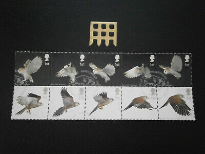 Gb Stamps 2003 Birds Of Prey Block Of 10 -  Fine Used