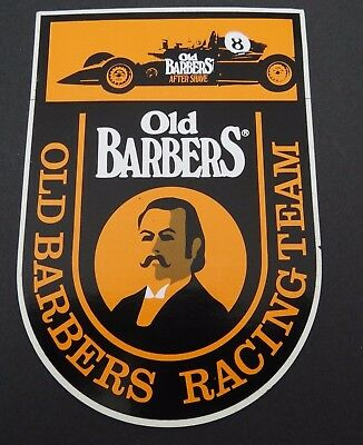 Aufkleber After Shave Old Barbers Racing Team Formel 70er Oldtimer Sticker
