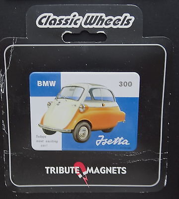 Classic Wheels Tribute Magnets BMW ISETTA 300 Oldtimer Magnet Kühlschrank