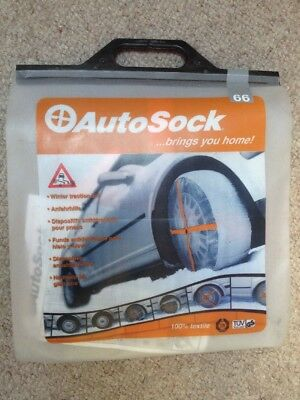 New Unused Genuine Autosock Size 66 Car Snow Auto Sock Chains Winter Driving