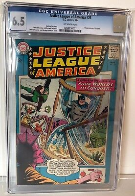 Justice League Of America #26 - Cgc 6.5 - 2Nd Despero - Off White Pages