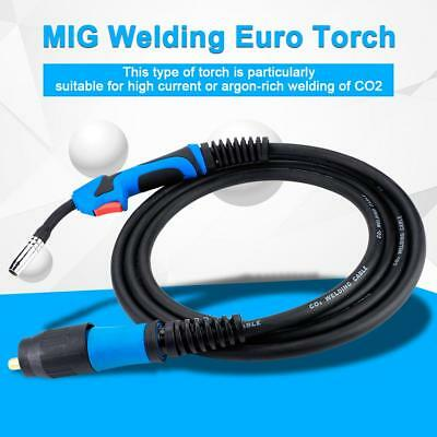 MIG Gas CO2 Shield Welding Torch MB15AK Euro Standard Fitting Connector 4M 180A