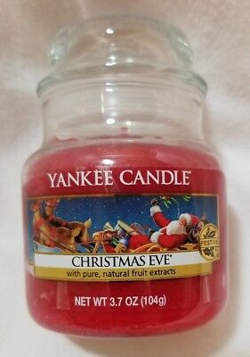 Yankee Candle CHRISTMAS EVE 3.7 oz Classic Small Jar Housewarmer Red Baby Old