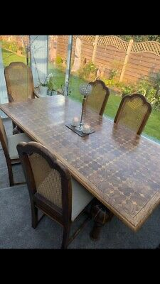 Dining Table Distressed Waxlied Sod