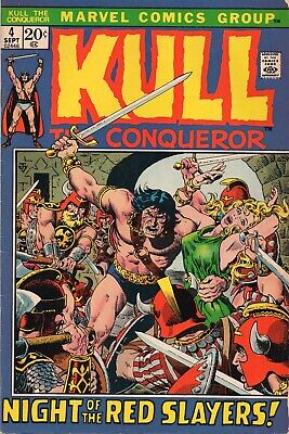 KULL THE CONQUEROR #4 Marvel Comics 1972 FN+