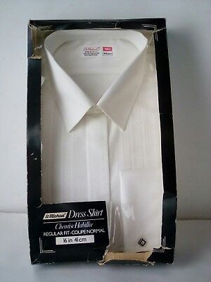 "Mens Vintage M&S Dress Shirt Collar Size 16""  Evening Shirt 1970s 80s"