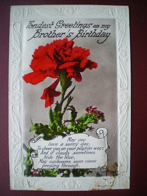 Postcard Rp Greetings Embossed Fronest Greetings On My Brothers Birthday