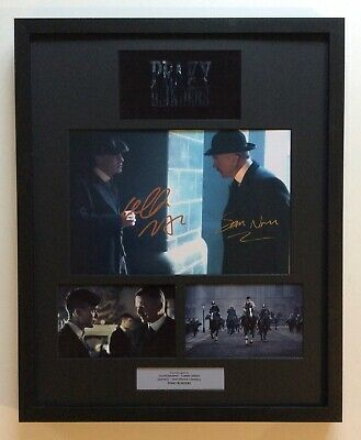 Cillian Murphy & Sam Neill PEAKY BLINDERS Hand Signed Mounted Frame