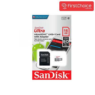 SanDisk 16GB 16G Ultra Micro SD HC Class 10 TF Flash SDHC Memory Card mobile