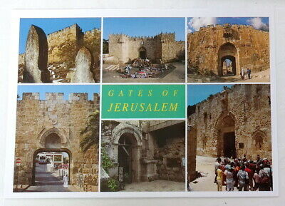 Jerusalem Gates POSTCARD Lion's Gate of David - Zion, Golden, Damascus Holy Land
