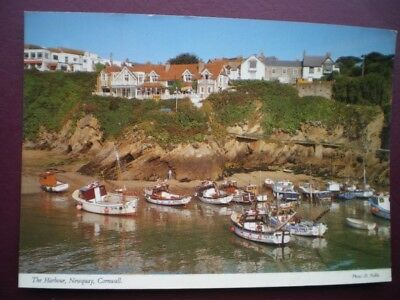 Postcard Cornwall Newquay - The Harbour - Low Tide