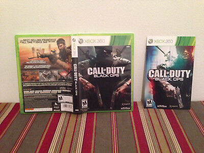 Call of duty black ops Microsoft Xbox 360  Case & manual ONLY NO GAME