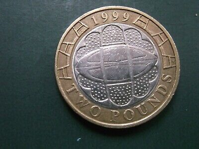 Cheapest 1999 £2 Coins Two Pound Rare Rugby World Cup