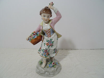 Dresden Figurine - Antique Vintage Sitzendorf Dresden Porcelain Figure - Germany