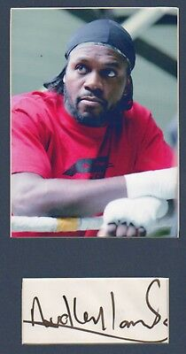 AUDLEY HARRISON signed paper + pic in display UACCRD Retirement Sale