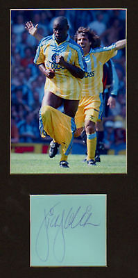 DION DUBLIN signed paper +  pic in display  UACCRD Retirement Sale