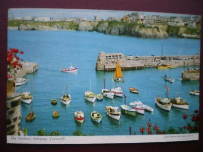 Postcard Cornwall Newquay - The Harbour - High Tide