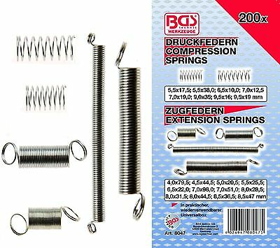 Feathers Range Compression Springs, Tension 200 Pcs BGS