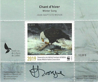 2019 Canada Quebec  Wildlife Habitat Conservation  WWF -DQ93s    Mint NH