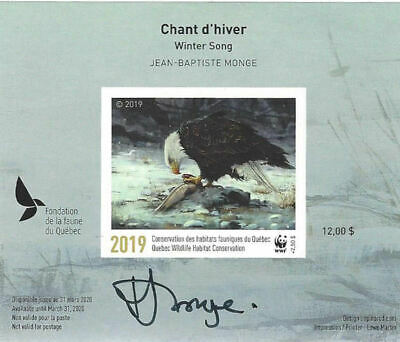 2019 Canada Quebec  Wildlife Habitat Conservation  WWF -DQ93as imperf   Mint NH