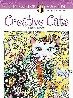 Creative Haven Creative Cats Coloring Book-NEW-9780486789644 by Sarnat, Marjorie