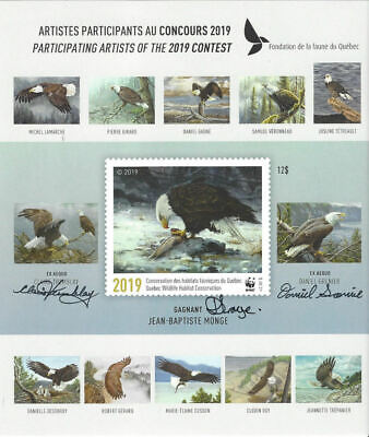 2019 Canada Quebec  Wildlife Habitat -DQ96as imperf souvenir sheet Mint NH