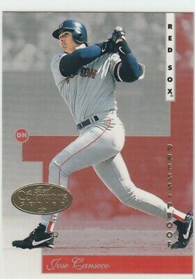 1996 Jose Canseco Leaf Signature GOLD PRESS PROOF Parallel #105 - Red Sox