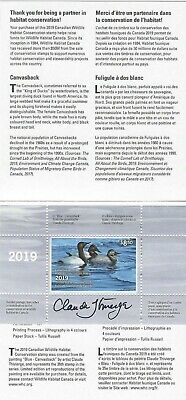 2019 Canada  Wildlife Habitat Conservation FWH35s (D-35s)   Mint NH signed