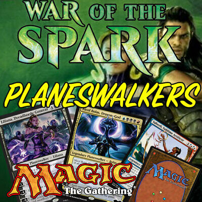 MAGIC THE GATHERING MTG War of the Spark Planeswalkers Cards NM/M FREE  DELIVERY