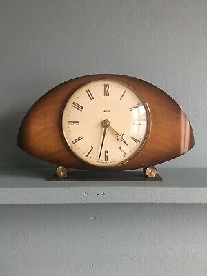 Smiths Antique Wind-up Wooden Mantlepiece Clock