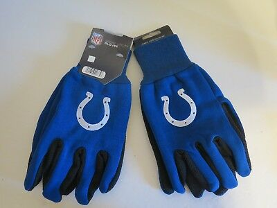 Garden Clothing & Gear Football-nfl Indianapolis Colts Nfl White Logo Two Tone Utility Gloves Easy To Use