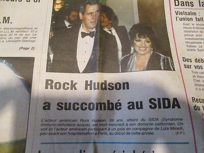Journal Du Deces De : Rock Hudson 03/10/1985