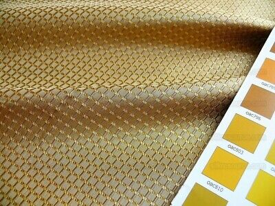 """100% Silk Jacquard Dashed Square Texture """"Coin"""" Gold Bty"""