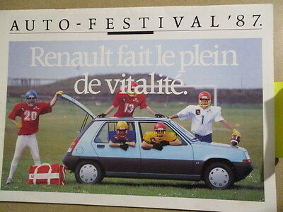 Catalogue Auto : Renault : Gamme 1987