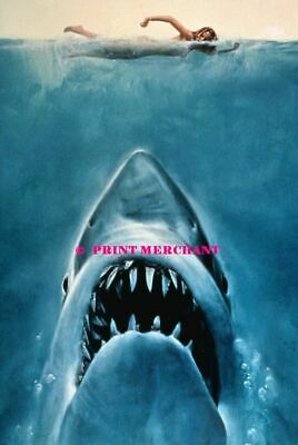 JAWS MOVIE 80s 90s Poster Wall Art Home Photo Print 24x36 inch