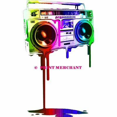 MELTING BOOMBOX 80s 90s Poster Wall Art Home Photo Print 24x36 inch